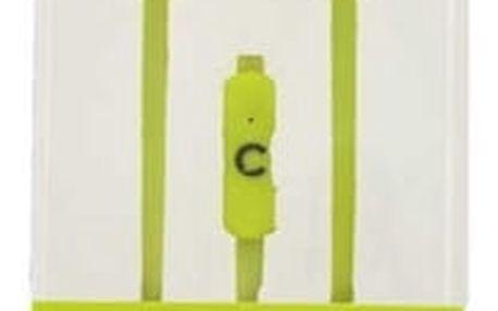 Sluchátka s mikrofonem Talkcom Square Zelená Silikonové