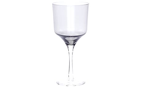 Hübsch Sklenička na červené víno Grey, šedá barva, sklo
