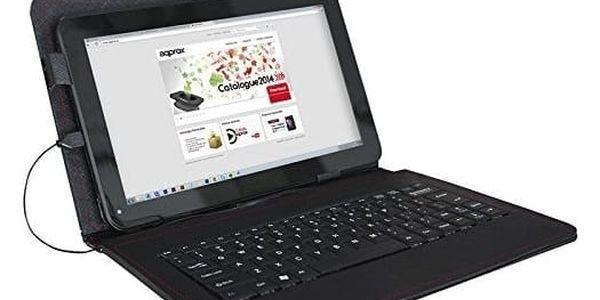 Pouzdro na tablet a klávesnici approx! APPIPCK05 10.1in Kůže Černý