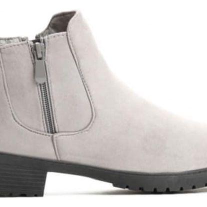 Dámské šedé kotníkové boty Kourtney 819