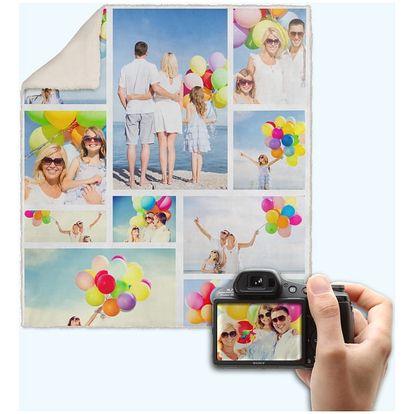 Deka s vlastími fotografiemi: 150×120 cm či 190×140 cm