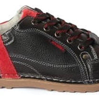 Dámské kožené boty Casual Fashion černo-červené