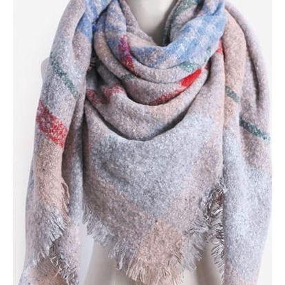 Zimní mohutný šátek - 6 variant
