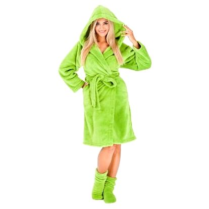 Dámský župan Nancy zelený + ponožky jako dárek