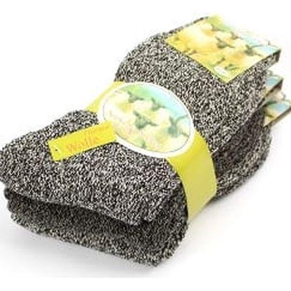 Teplé pánské ponožky z ovčí vlny 3 páry