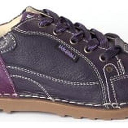 Dámské kožené boty Casual Fashion fialové