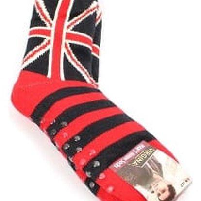 Pánské vyteplené ponožky red ENGLAND