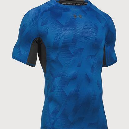 Kompresní tričko Under Armour Heatgear Printed SS Modrá