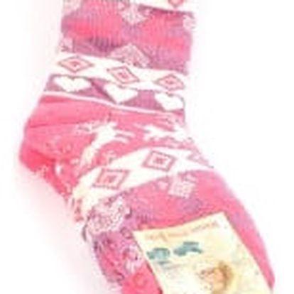 Dámské vyteplené ponožky pink RIENDEER