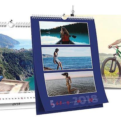 Originální nástěnný kalendář s vašimi fotografiemi v několika variantách