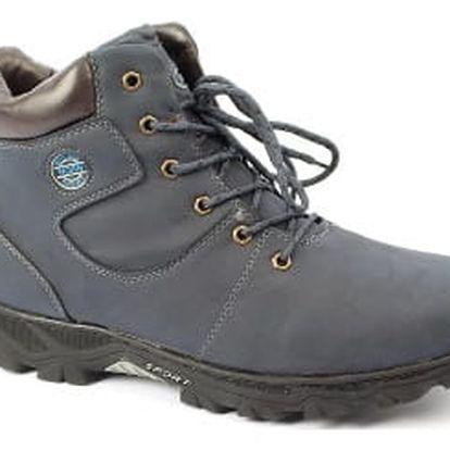 Pánská zimní obuv s nadměrným číslováním NORN modrá
