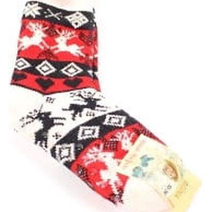Dámské vyteplené ponožky red RIENDEER