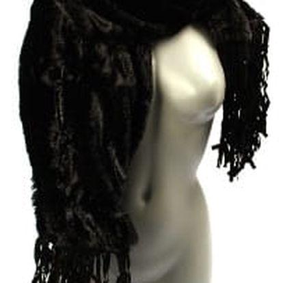 Dámská zimní šála MK black