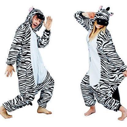 Originální overal Kigurumi - Zebra