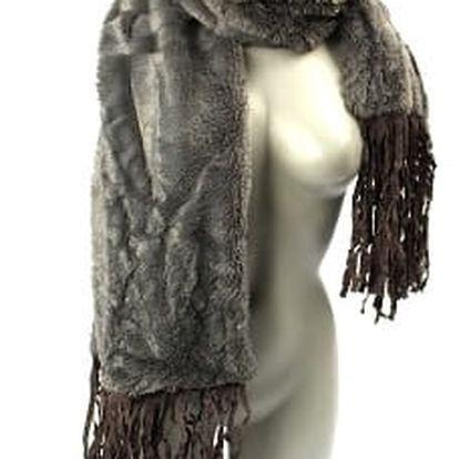 Dámská zimní šála MK grey