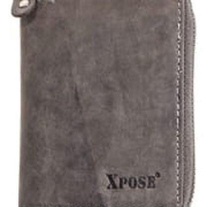 XPOSE ® Pánská peněženka XPOSE XH-21 - šedá