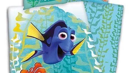 Herding Dětské povlečení Nemo, Dory a kamarádi green, 140 x 200 cm, 70 x 90 cm