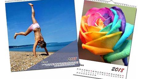 Nástěnný kalendář s vlastními fotografiemi v různých provedeních