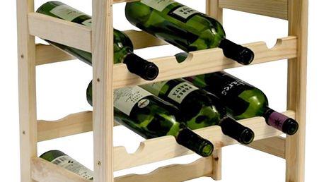 Dřevěný regál na 16 lahví