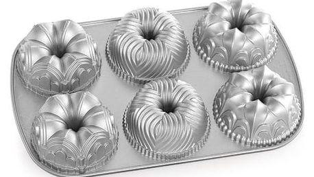Nordic Ware Hliníková forma na mini bábovky Garland, šedá barva, kov