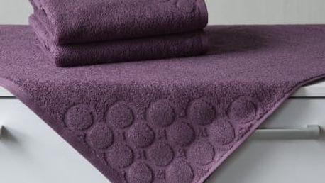 Veba Osuška TERRY KOLA - tmavě fialová 70x140 cm
