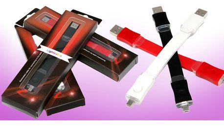 Svítící USB kabel ve třech barvách
