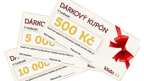 Dárkový kupón vhodnotě 500, 1000, 2000, 5000 nebo 10000 Kč