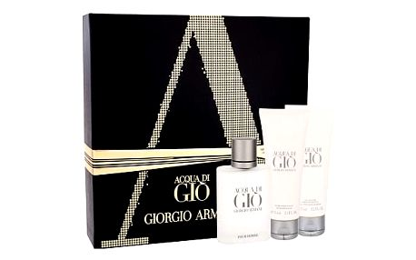Giorgio Armani Acqua di Gio Pour Homme EDT dárková sada M - EDT 50 ml + balzám po holení 75 ml + sprchový gel 75 ml