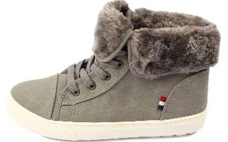 Dámské kotníkové boty CASUAL šedé