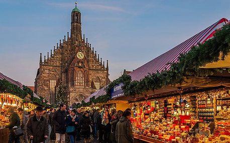Jednodenní zájezd do adventního Norimberku pro 1 osobu s možností prohlídky města