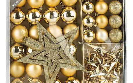 Vánoční set Luxury, zlatá