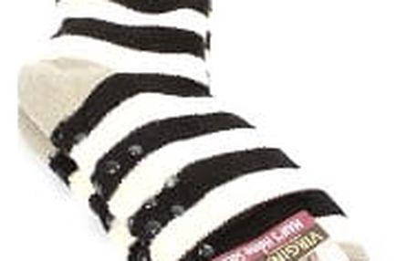 Pánské vyteplené ponožky black STRIPES