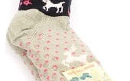 Dámské vyteplené ponožky black DEER