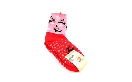 Dámské vyteplené ponožky red DEER