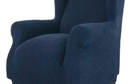 """Forbyt Multielastický potah na křeslo """"ušák"""", modrá, 70 - 110 cm"""