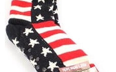 Pánské vyteplené ponožky red STRIPES
