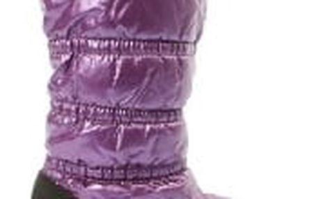 Lesklé dámské sněhule fialové