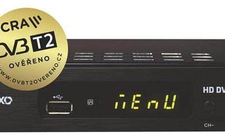 DVB-T přijímač Maxxo T2 HEVC/H.265 černý