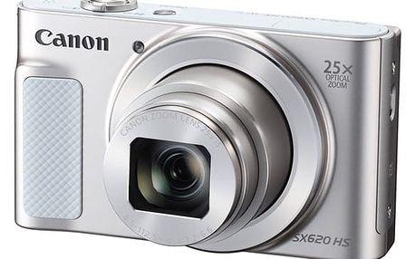 Digitální fotoaparát Canon SX620 HS (1074C002) bílý Pouzdro na foto/video Canon DCC-1500 černé v hodnotě 490 Kč + DOPRAVA ZDARMA