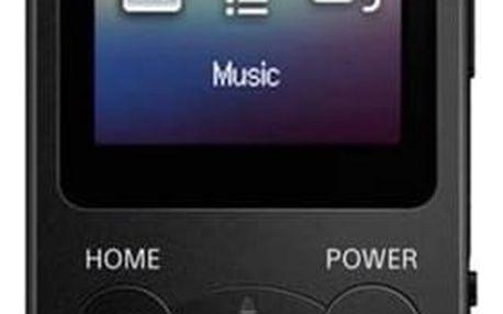 MP3 přehrávač Sony NWE393B černý
