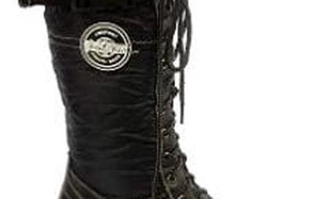 Dámské kozačky Comfort Fashion černé