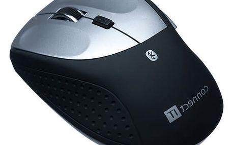 Myš Connect IT MB2000 (CI-189) černá/stříbrná / laserová / 5 tlačítek / 2400dpi