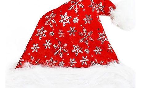 Vánoční čepice s vločkami