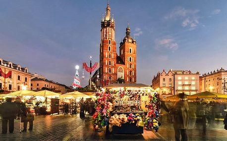 Celodenní zájezd pro 1 na vánoční trhy do polského Krakova s prohlídkou města