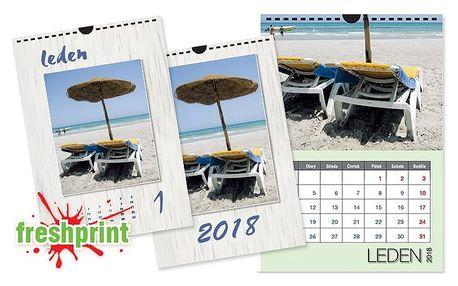 Nástěnný kalendář s vlastními fotografiemi na křídovém papíře ve formátu A4 nebo A3