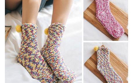 Hřejivé ponožky s bambulkami Sweetie