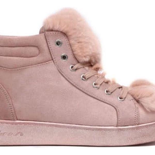Dámské růžové kotníkové tenisky Coat 7108