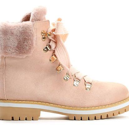 Dámské růžové kotníkové boty Adonis 9091