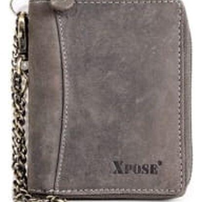 XPOSE ® Pánská peněženka XPOSE XH-22 - šedá