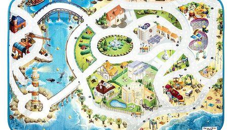 Vopi Dětský koberec Ultra Soft Pláž, 95 x 145 cm